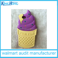ice cream 3d design cute cartoon silicone soft mobile phone case for iphone 5/ 6 & ipad mini& ipad 6