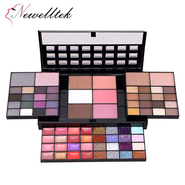 74C big makeup palettes bronzer shimmer matte eyeshadow set purple brown glitter eyeshadow