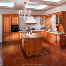 2018 solid wood kitchen cabinets made in China for house