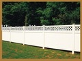 best sell pvc privacy fencing with top lattice