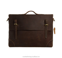 Wholesale Crazy Horse Leather Shoulder Bag Briefcase Handbag 0342 for Men