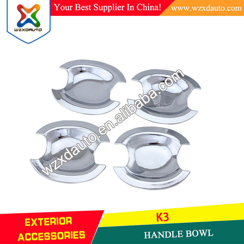 SET ABS CHROME DOOR HANDLE BOWL INSERTS COVER DOOR HANDLE BOWL FOR K3 2012-2013