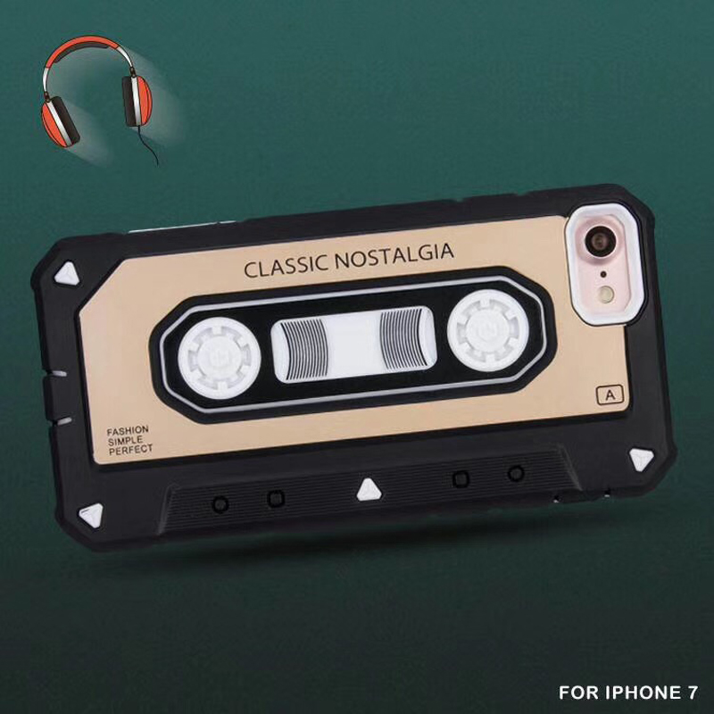 Latest High Quality tpu pc for iphone x classic vintage tape case
