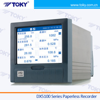 High Quality DX5100 LCD 16 Channel Paperless Recorder / Chart Recorder / Temperature Recorder