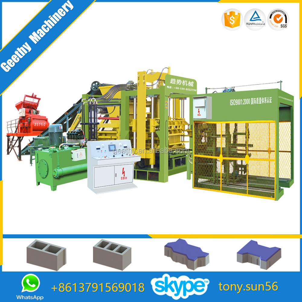 hot selling machine QT12-15 auto block, hydro blocks, block making machine