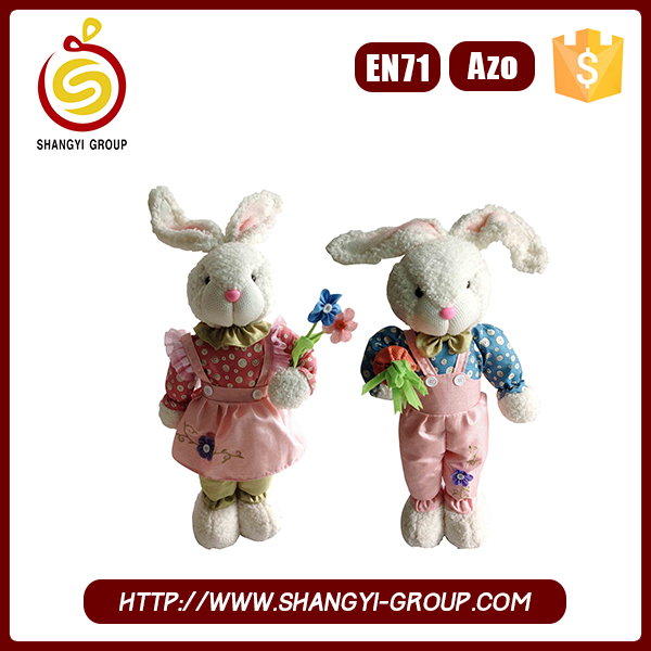 Alibaba online shopping plush easter bunny for decoration