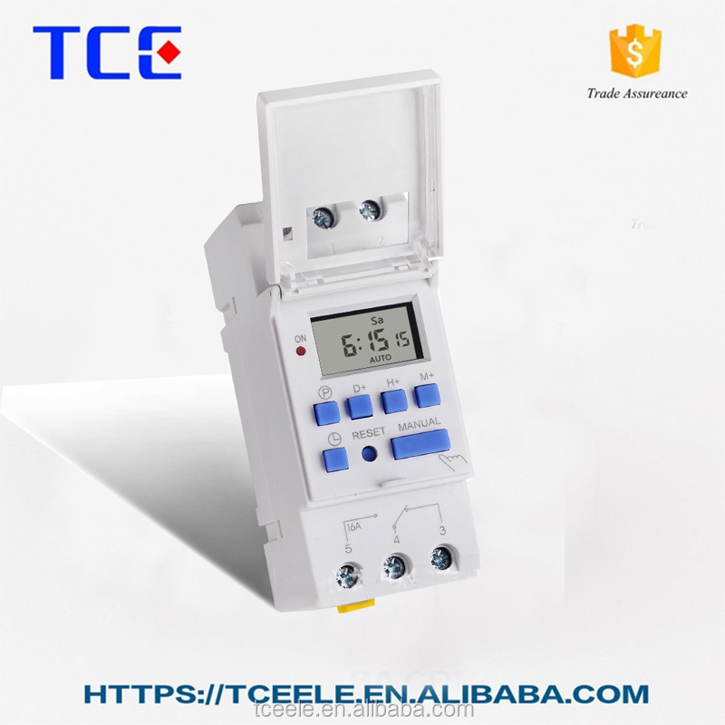 Programmable DC 24V, AC110-220V Weekly 24h LCD Digital Timer Switch