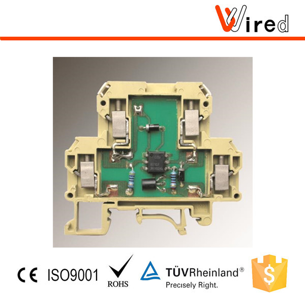 Terminal Block With Relay Electronic Module, Wired MOS Series Standard Terminals With Relays