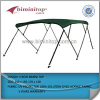 New 600D solution dyed grey 4 bow bimini top boat cover several colors to choose