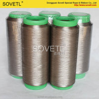 silver fiber yarn for knitting sewing
