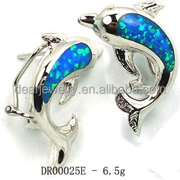 Opal Stone Designer Earring Jewelry Gifts for Mother DR00025E