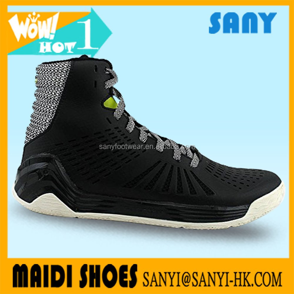 SYNY 2017 Fashion Young Students Battle black High basketball shoes for Men's