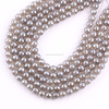 Natural Gemstone Beads AB Color Plating Grey Agate 128 Faceted Round Agate Beads
