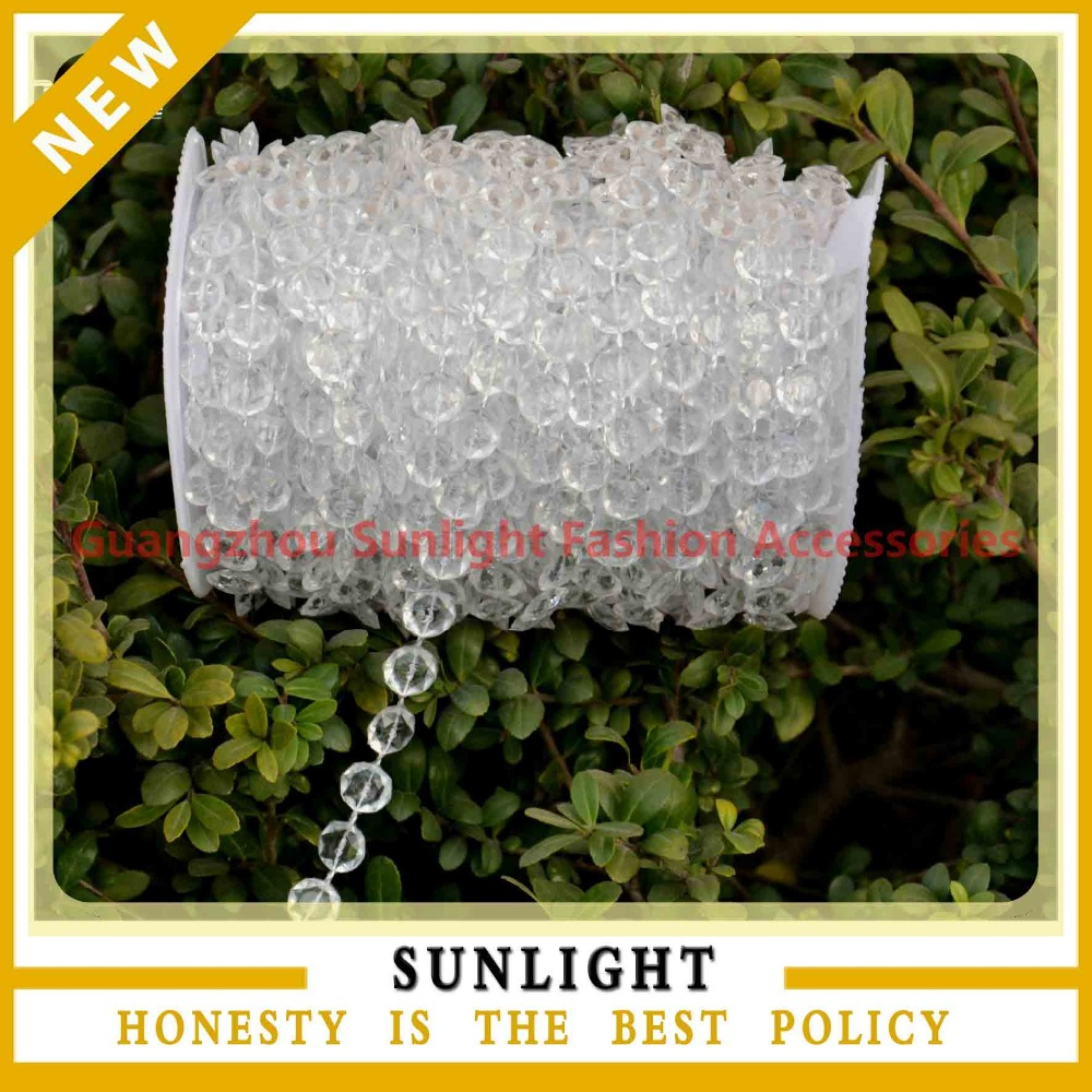 Garland Diamond Strand Acrylic Crystal Bead Wedding Ceremony Stage Backdrop Christmas shopping