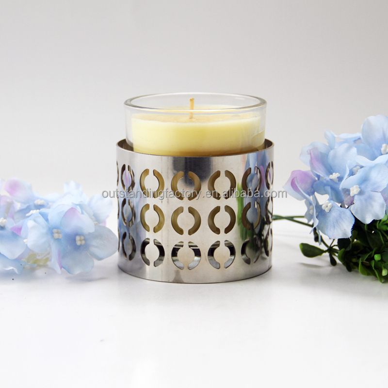 Smart Living Color Scented Candle Tin Tall Glass Candle Holders