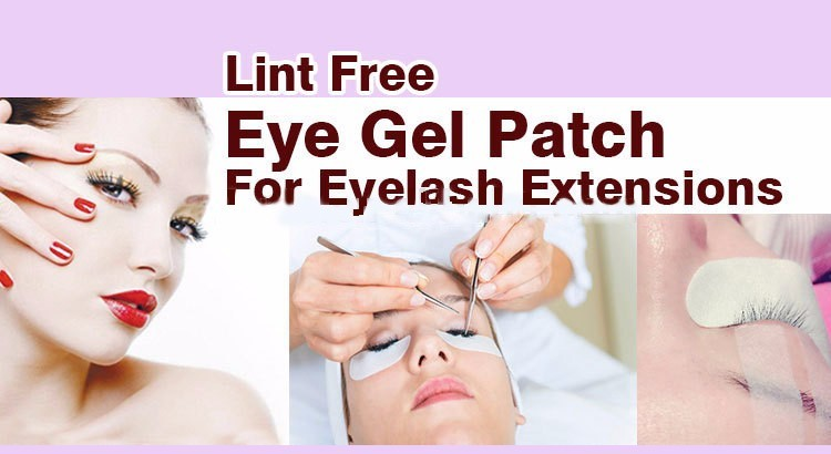 Lint Free eyelash extension eye gel patch for women (25)