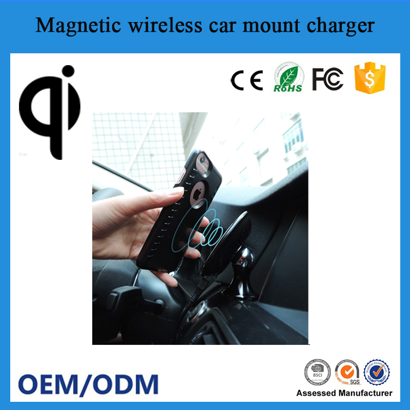 qi wireless charger air vent magnetic car phone magnetic mount holder