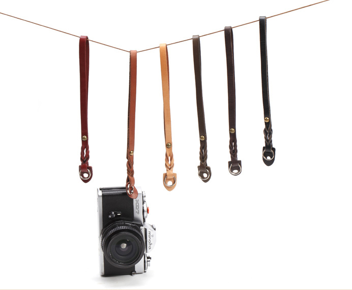Handmade Band braid/woven leather camera hand straps