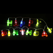 "Multicolor Letter Shaped ""HAPPY BIRTHDAY"" LED String Lights"