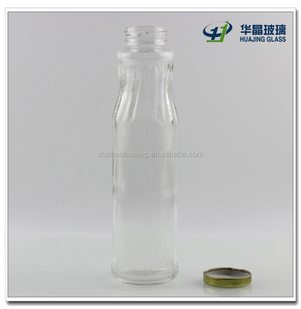 Fancy Slender Beauty 450ml 15oz empty glass beverage bottles wholesale