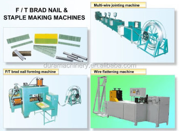 Machine for staple/FT brad nail production, staple/FT brad nail former