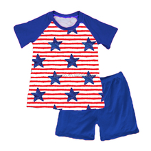 Yawoo American national day children baby casual t-shirts short clothes kids clothing