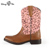 Fashionable Wholesale Leather Horse Riding No Lace Work Snow Boots