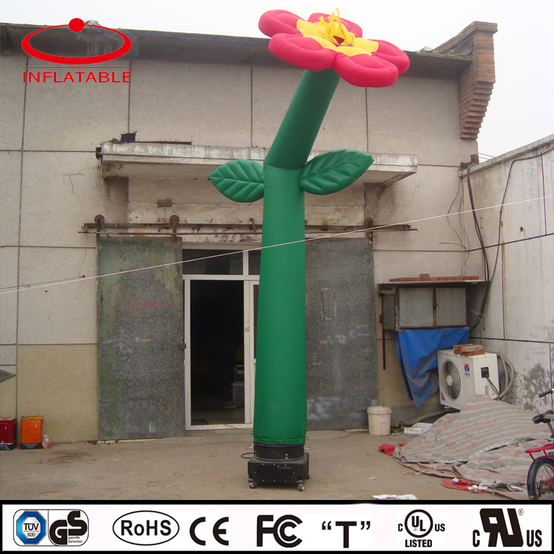 custom made lovely pink flower shape inflatable air man, inflatable air dancer