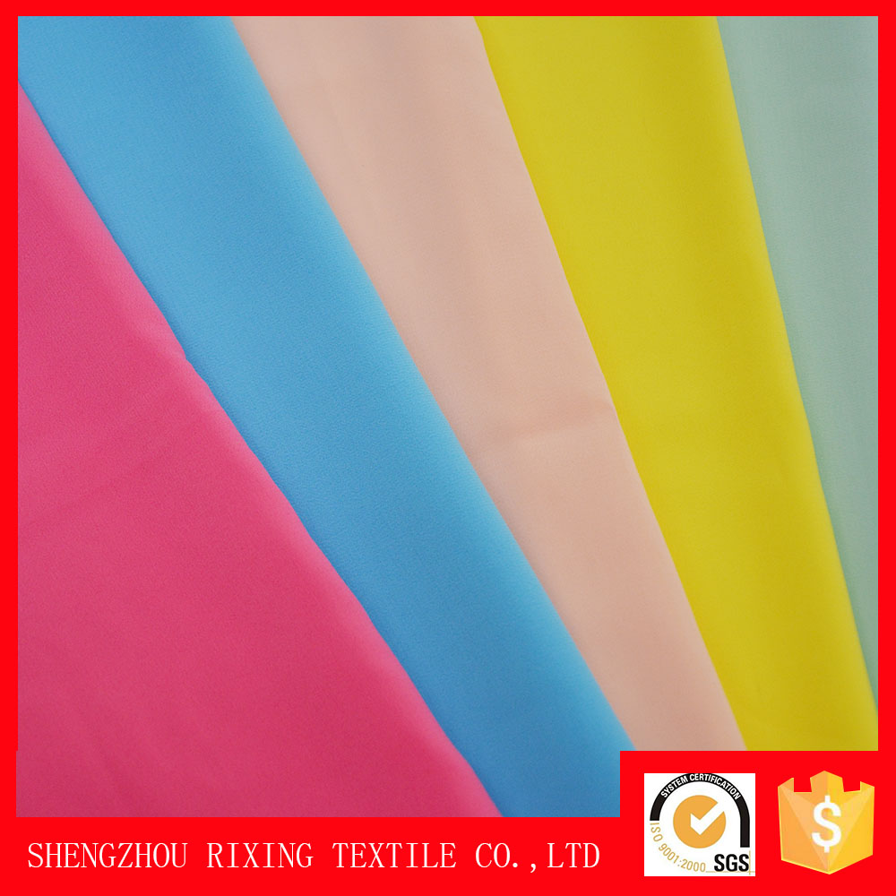 Hot style woven plain spandex polyester chiffon fabric,bubble chiffon fabric