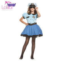 China factory customized girls police fancy dress cosplay dresses costume for sale