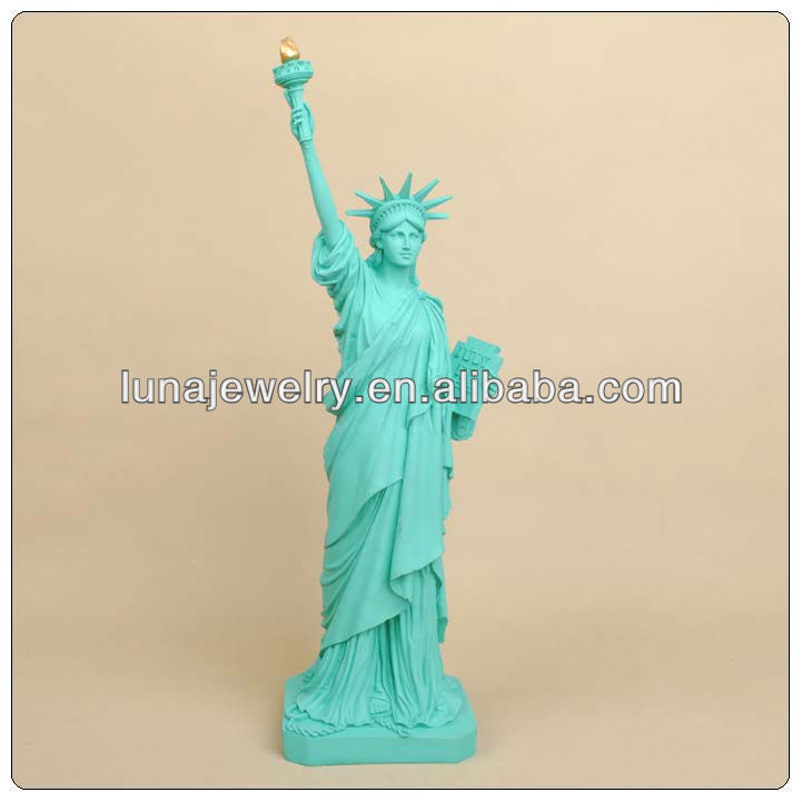 Green Color of the Statue of Liberty,figures resin