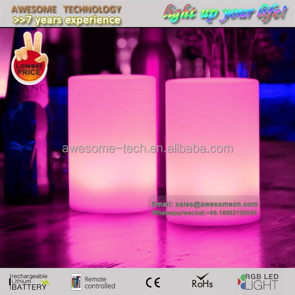 cylinder shaped led moon light for table decor