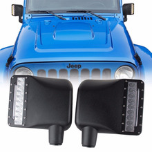 Hot sale Body Parts review mirror cover with turn signal lights for Jeep Wrangler JK