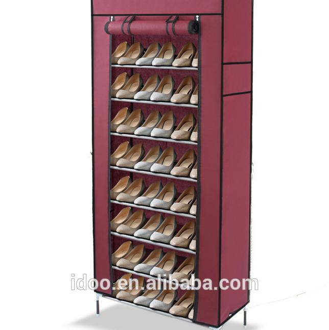 organisateur de stockage de la maison portable facile nettoyer tissu 10 tiers armoire. Black Bedroom Furniture Sets. Home Design Ideas
