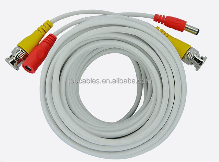 Premade BNC to DC connector CCTV cable