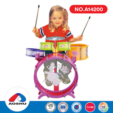 most popular jazz plastic musical instruments toy kids drum with high quality
