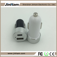 2.4A 3.1A 4.8A Type C 2 USB Car Charger for Tablet Car Cigarette Power