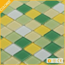 Customized Beautiful Style Glow In Dark Glass Mosaic