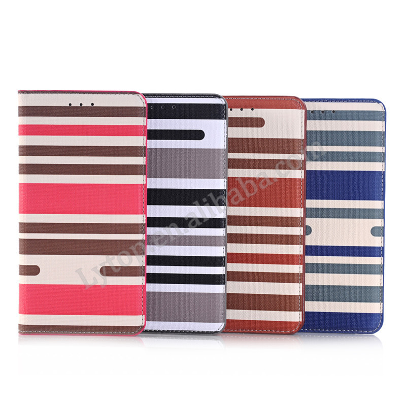 For Samsung Galaxy Note 5 colorful line pattern stand flip leather wallet cell phone case