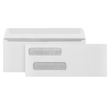 8# 500 Gummed Double Window Security Check Envelopes - Designed for Checks - Computer Printed Checks - 3 5/8 X 8 11/16""