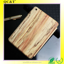 2017 High Good Quality Tablet Wood Pattern Leather Case Cover for Ipad mini 2/3