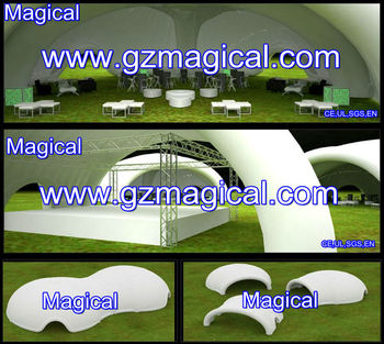 White Inflatable Roof Tent for Ground Activity