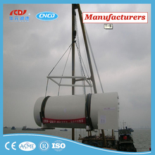 LNG marine fuel tank/pressure vessel with high efficiency