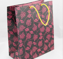 Vintage flower clothing paper bag printed shopping gift bags