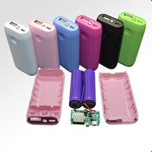 2 cells portable powerbank housing power bank case diy kit for 18650 batteries