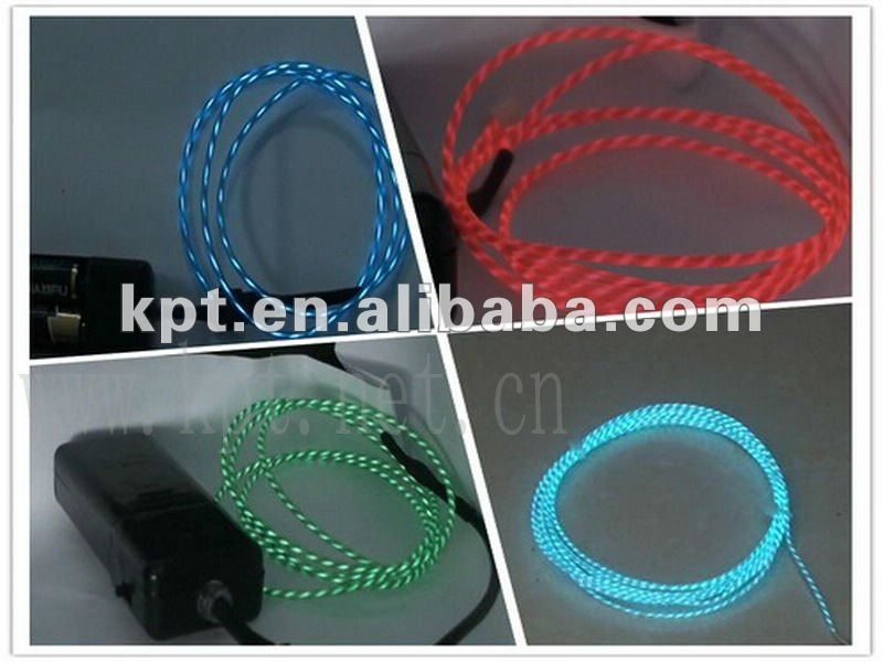 high bright neon usb cable rawmaterial chasing light