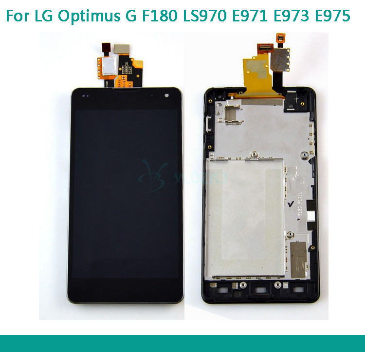 Brand New LCD For LG Optimus G LS970 F180 E971 E973 E975 LCD Display Touch Screen With Digitizer Assembly With Frame