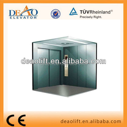 Nova Hot sale DEAO High Quality Freight Elevator with Hairline Stainless Cabin