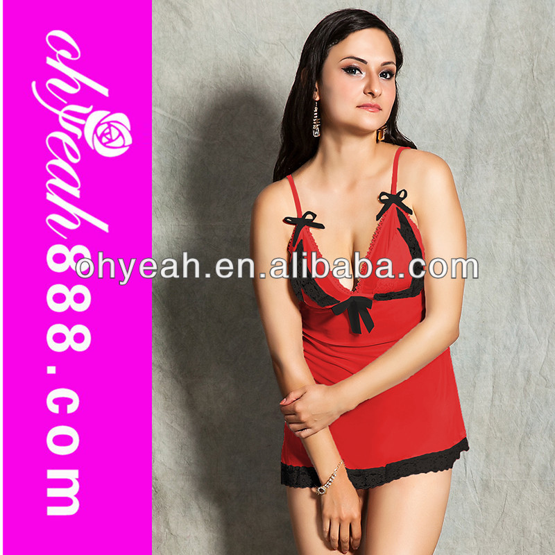 Wholesale super plus size lingerie top quality sex valentine's day red hot babydoll xxll nighty girls