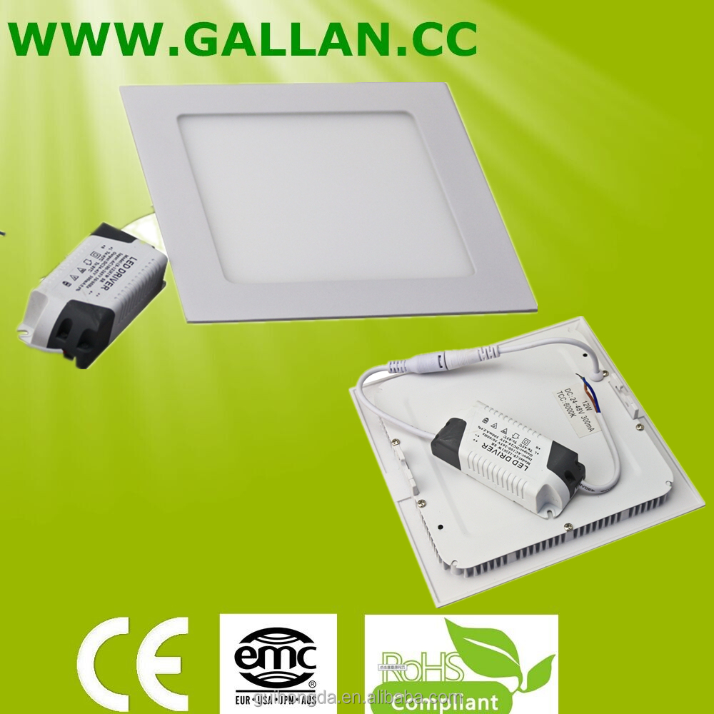 RGB Factory price 6W 12Watt 15W 18W 24W led rgb recessed ceiling down light square with 2 years Warranty